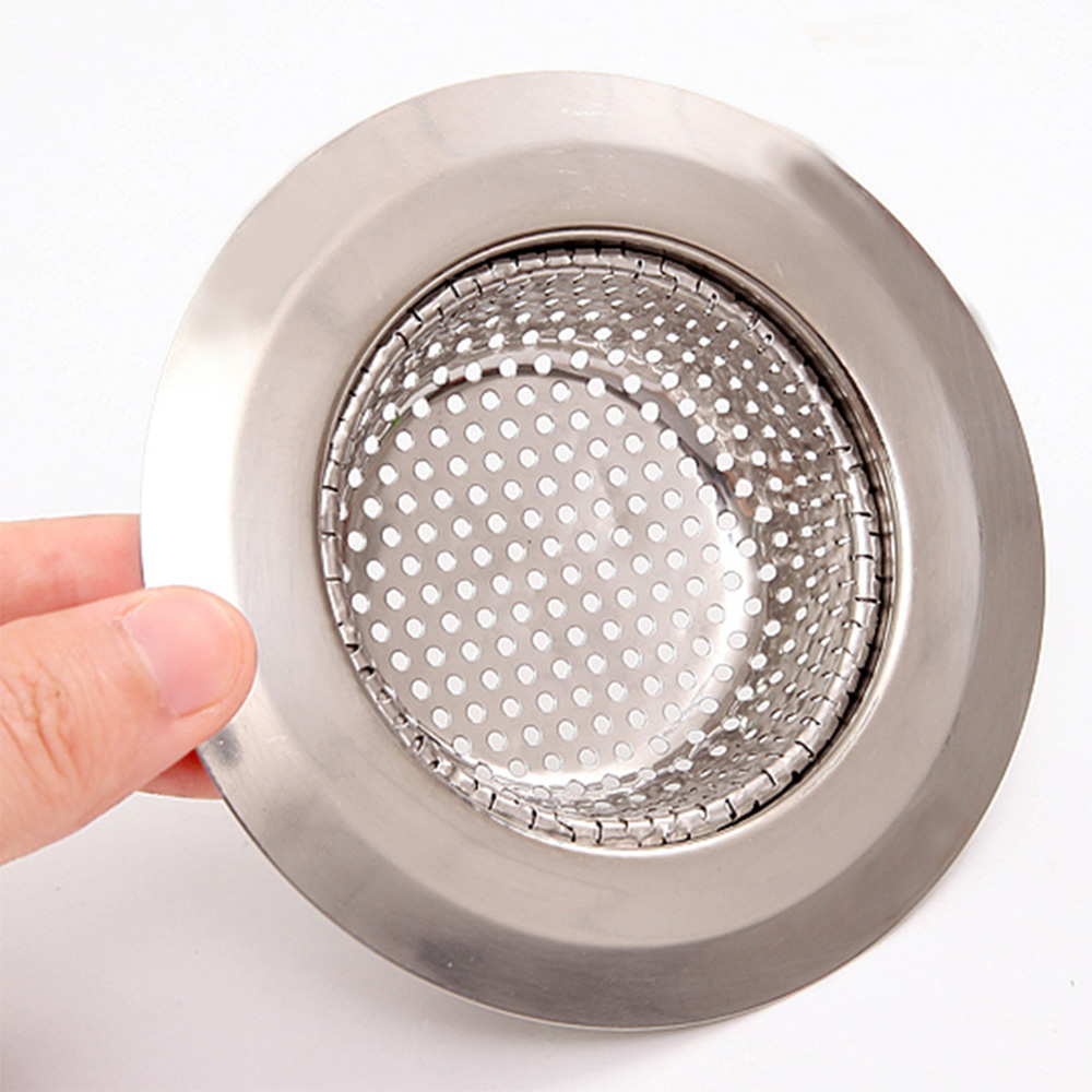 1PC Household Stainless Steel Kitchen Sink Strainer Drain Metal Sink Strainer Bath Sink Drain Waste Screen Kitchen Tool 5
