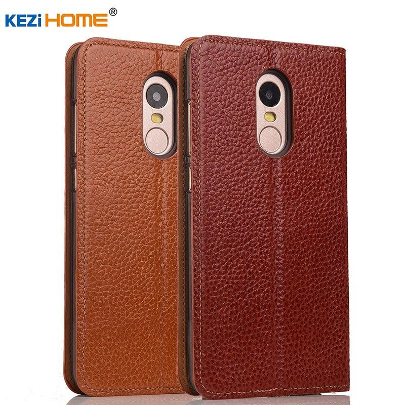 Case For Xiaomi Redmi Note 4x KEZiHOME Genuine Leather Flip Stand Leather Cover For Xiaomi Redmi