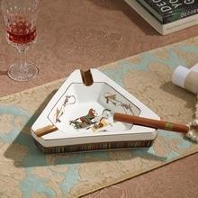 Cigar holder ashtray Ceramic cigar Decorative ash trays Accessories Office decorations