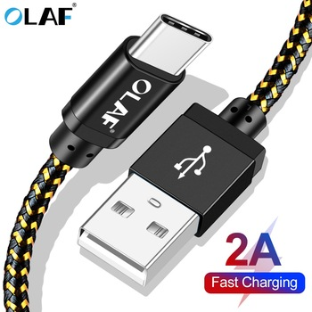 OLAF 1M 2M 2A Fast Charging USB Type C Cable For Xiaomi Redmi Note 7 Mi9 MI 8 9 USB C Charging Cord Cable For Samsung S8 S9 Plus