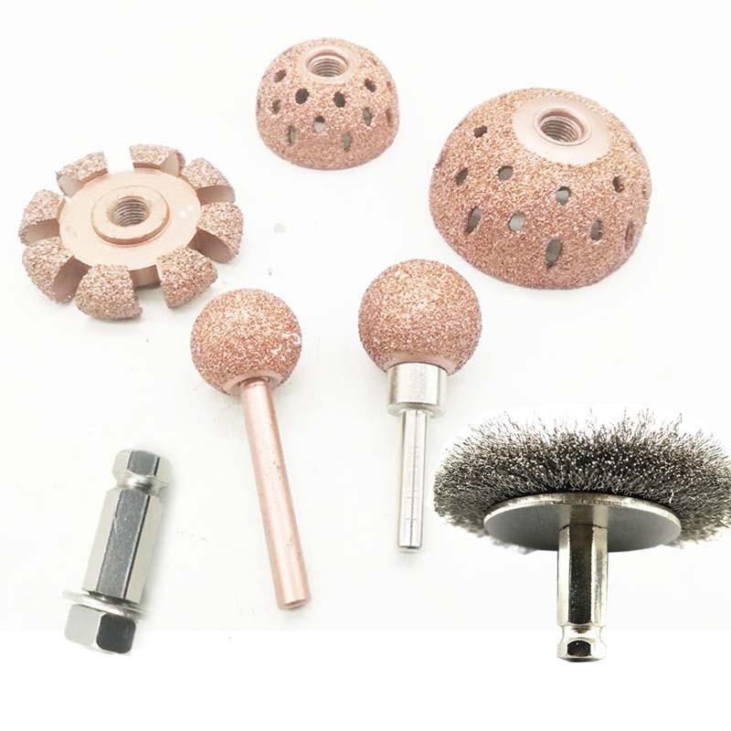 Hemispherical Gas Of Various Types Of Tungsten Steel Material Grinding Head Grinding Wound / Tire Repair Tools