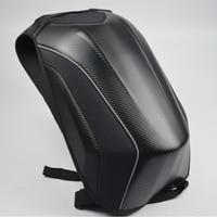 Motorcycle Bag Waterproof Motorcycle Backpack Carbon Fiber Motocross Racing Riding Helmet Bag Motorbike Knight Backpack
