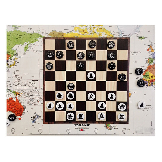 Jeu d'échecs magnétiques disques portables 5