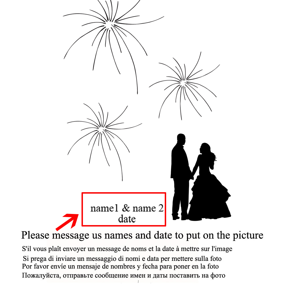 Customized Wedding Gift With Names Date Fingerprint Sign Guestbook Decor Poster Unframed Hk102 In Signature Guest Books From
