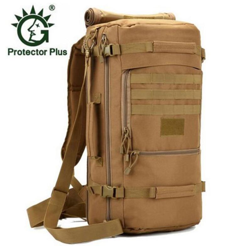 60L Men Military Backpacks Multifunction Nylon Women Casual Travel Laptop Rucksack Camouflage Black School Bags students
