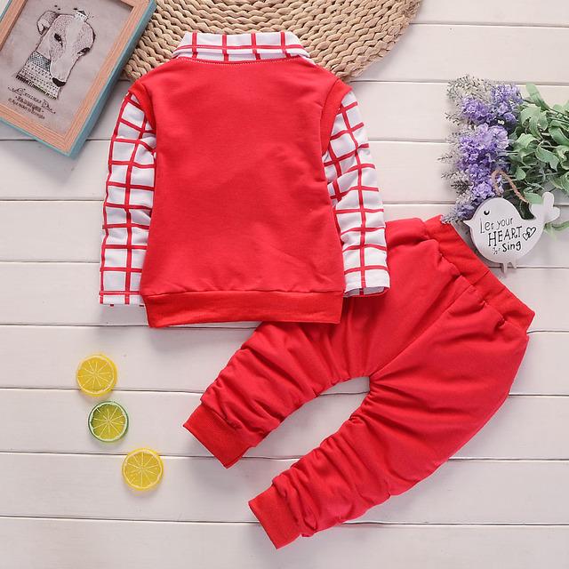 BibiCola Spring Autumn Baby Boy Clothing Sets Kids Clothes Set Boys Cotton Long Sleeve t-shirts+pants Sports Suit Kids Tracksuit