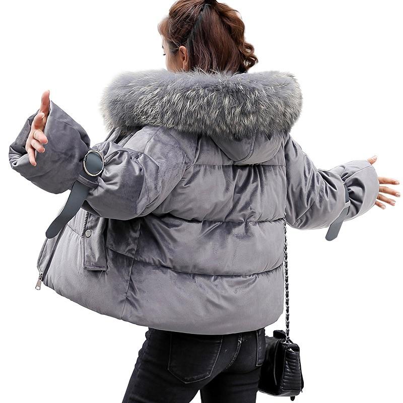 Bas Veste pink Femmes Manteau Mode Rembourré Hiver Parkas cream grey Chaud Capuchon Black De Coton Pour Le Femme Vers Qiuxuan À wqvBR55