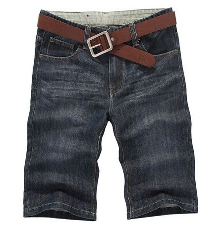 ФОТО Free shipping ! Middle waist straight men's short jeans,denim jeans with large size