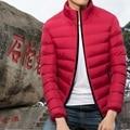 Otoño invierno hombre chaqueta de abrigo de algodón de moda joven muchacho de los hombres del algodón chaqueta de la capa ocasional