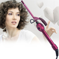 110 240V CkeyiN 9mm Ceramic Curling Iron Hair Curler Hair Curl Iron Curling Wand Curl Electric