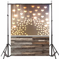 3x5ft Photo Vinyl Photography Background Love Heart-shaped Light Wood Photographic Backdrops For Studio Photo Props 0.9m x 1.5m