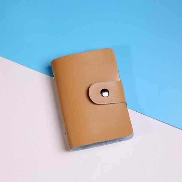 Nouvelle fonction de carte de crédit en cuir PU 24 Bits cartes de visite hommes femmes sac de passeport de crédit carte d'identité portefeuille