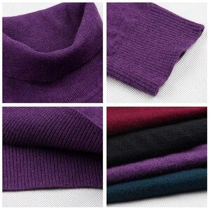 Image 5 - COODRONY klasyczny golf Cashmere męskie swetry zimowy gruby ciepły świąteczny sweter mężczyzn 100% czysty wełniany sweter Merino mężczyzn 36