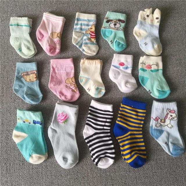 2019 5Pairs Newborn Cotton infant Anti-slip socks Baby socks floor socks Boys Girls Cute Cartoon animal Baby Toddler Socks 3