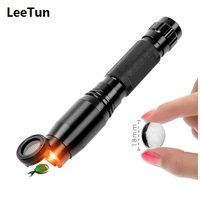 10X Magnifying Glass Mini Microscope with Light Chelsea Color Filter Portable Jewelry Jade Identification Tool Xenon Flashlight