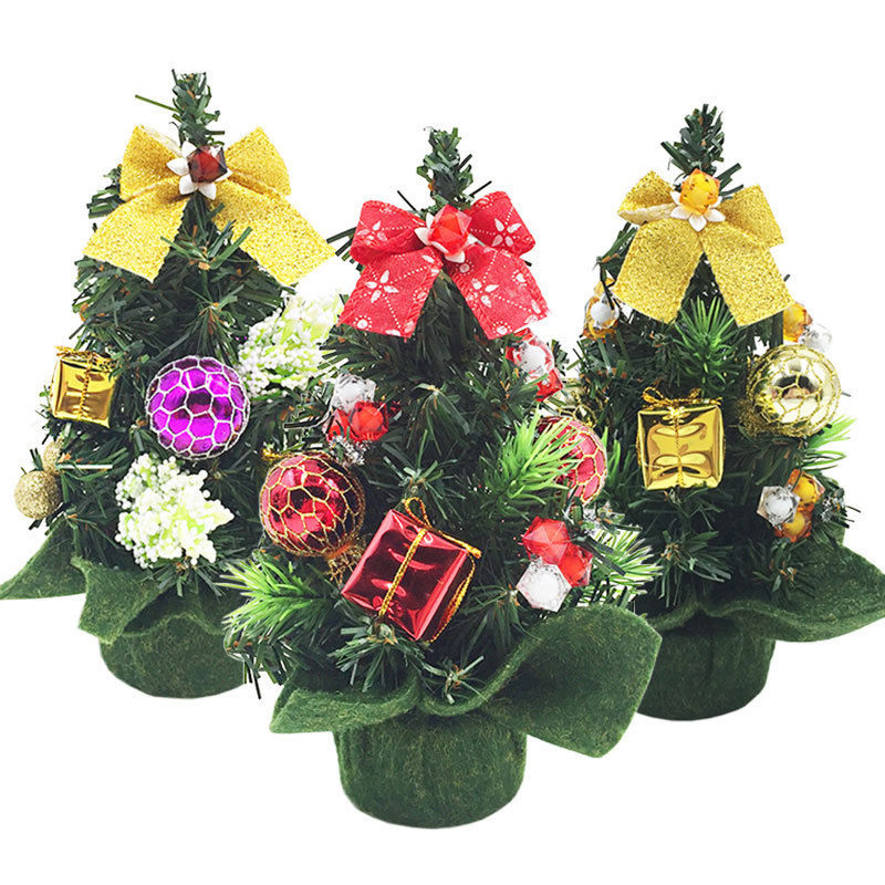 New mini small tiny artificial christmas tree home holiday for New home christmas decoration