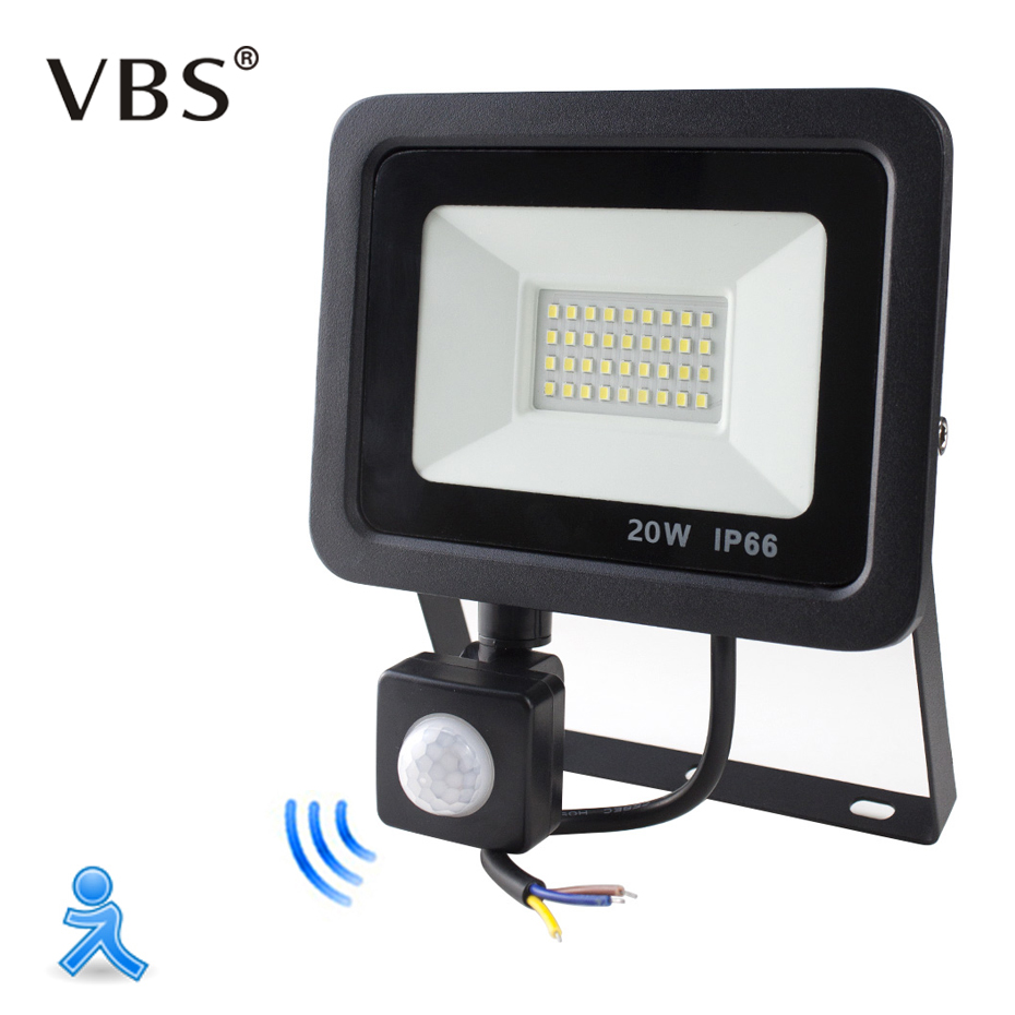<font><b>LED</b></font> PIR Motion Sensor Floodlight <font><b>10W</b></font> 20W 30W 50W Waterproof Flood light Garden Spotlight 220V Outdoor Wall Lamp <font><b>Reflector</b></font> image