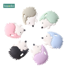 Bopoobo 5pc Silicone Porcupine Teether Silicone Teething Pendant Baby Teether Silicone Porcupine Nursing Gifts Silicone Rodents sally carleen porcupine ranch