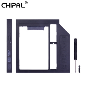 CHIPAL Universal Plastic 2nd HDD Caddy 12.7mm SATA 3.0 for 2.5'' 7/9/12.5mm SSD Box Case Enclosure Adapter DVD-ROM Optibay