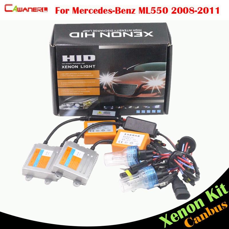 Автомобиль Cawanerl 55ВТ без ошибок спрятанный набор ксенона переменного тока балласт лампы фары низкого луча 3000k-8000k для Мерседес Бенц w164 ML550 2008-2011