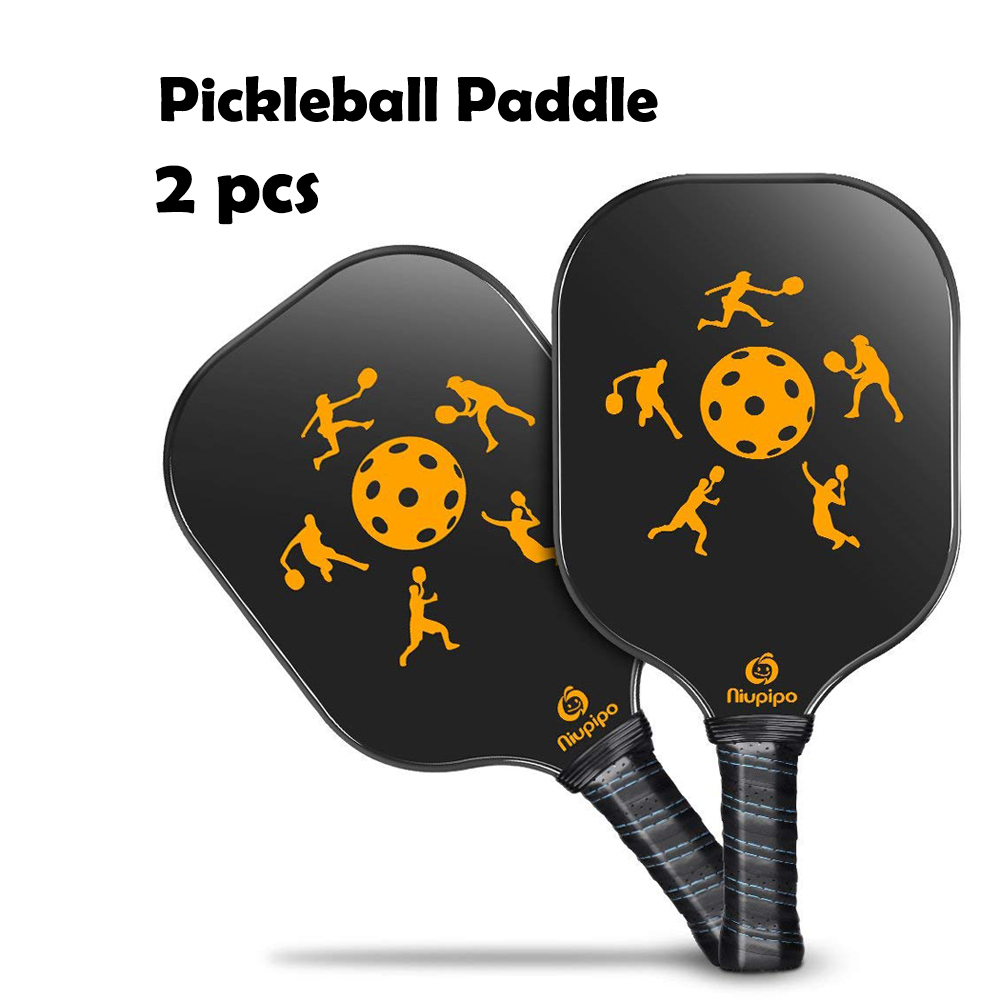 2 PCS Graphite Pickleball Paddles Carbon Fiber Face Pickleball Racquet with Cushion Comfort Grip and Nomex