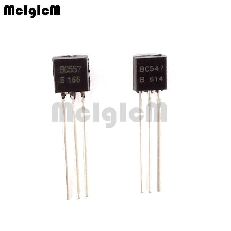 MCIGICM BC547+ BC557 Each 25pcs All 50pcs/bag BC547B BC557B NPN PNP Transistor TO-92 Power Triode Transistor Free Shipping