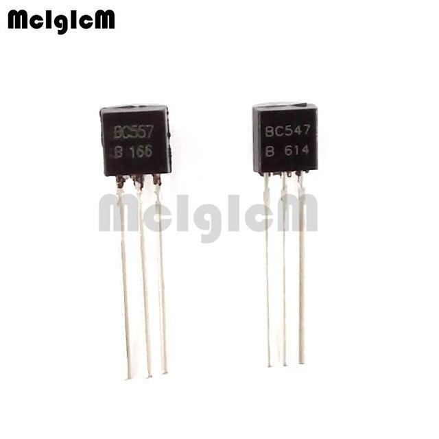 US $1 03  MCIGICM BC547+ BC557 Each 25pcs all 50pcs/bag BC547B BC557B NPN  PNP Transistor TO 92 Power Triode Transistor Free shipping-in Transistors