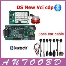 Новый vci (2015.3 R3 Серийник/2015R1) CDP PRO с bluetooth obd2 OBDII OBD II Авто сканер CDP Pro Plus Полный комплект 8 автомобилей кабели