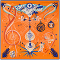 Nueva 130 cm * 130 cm Diseño de Instrumentos Musicales Pañuelo Bufanda de Invierno de La Marca de Moda Bufanda de Seda de la Cinta del Satén de Lujo Del Cabo SH1512141