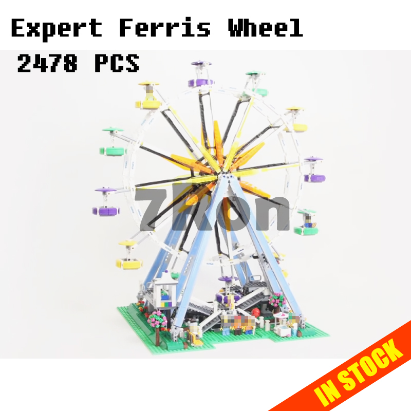 Models building toy 15012 Expert Ferris Wheel Building Blocks Compatible with lego city 10247 toys & hobbies Children gifts 15012 2478pcs city series expert ferris wheel set compatible with 10247 model building blocks toys