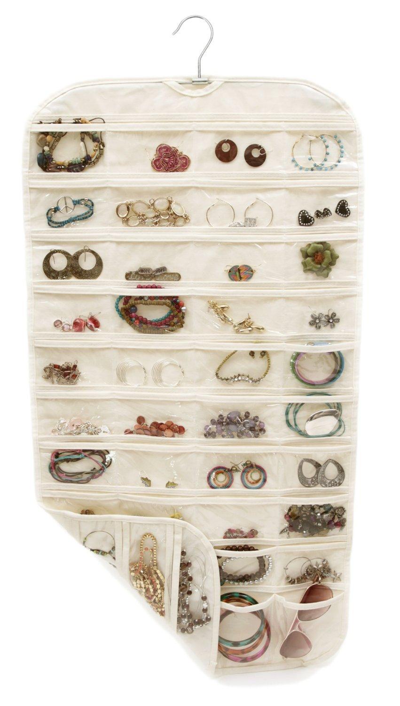 80 tasche reale Set Organizadores Organizador scatola appesa gioielli - Organizzazione e deposito in casa - Fotografia 1