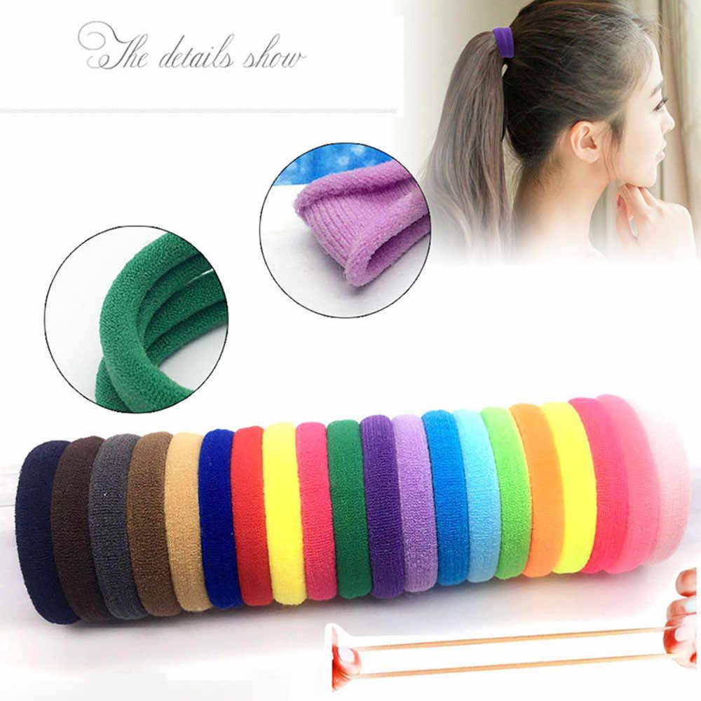 Banyak 10Pcs Colorfull Rambut Cincin Baru Elastis Rambut Band Bohemian Kurus Fashion Anak-anak Aksesoris Rambut untuk Wanita Y709