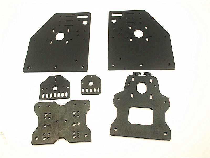 Funssor OX CNC Aluminium Plates Kit OX CNC Gantry Plate Set Openbuilds OX CNC ROUTER KIT vslot with Universal Threaded Rod Plate