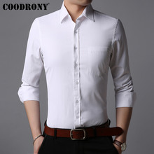 COODRONY Men Shirt Business Casual Shirts Soft Cotton Classic White Clothes Autumn Long Sleeve Camisa Masculina 96041