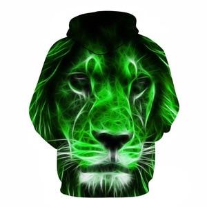 Image 4 - 2019 tier druck mit kapuze Sweatshirts Lila grün gelb Lion kopf 3D Hoodie Weiblich Männlich Herbst Pullover Xxxtentacion Trainingsanzug