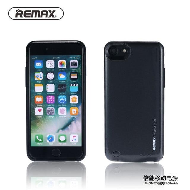 Remax 2400 mah caso carregador de bateria externa para iphone 7 iphone7 caso banco do poder de backup caso carregador para iphone 7 plus cobrir