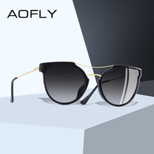 AOFLY BRAND DESIGN Fashion Sexy Cat Eye Polarized Sunglasses Women 2020 Sun glasses Classic Gradient Eyewear Oculos UV400 A116