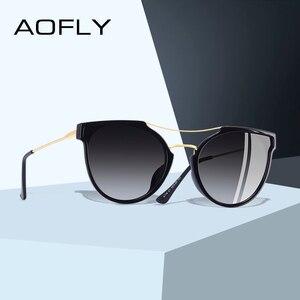 Image 1 - Aoflyブランドデザインファッションセクシーな猫目偏光サングラスの女性2020サングラスクラシックな勾配眼鏡oculos UV400 A116
