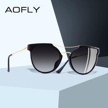 Aofly design da marca moda sexy olho de gato polarizado óculos de sol feminino 2020 óculos de sol clássico gradiente oculos uv400 a116