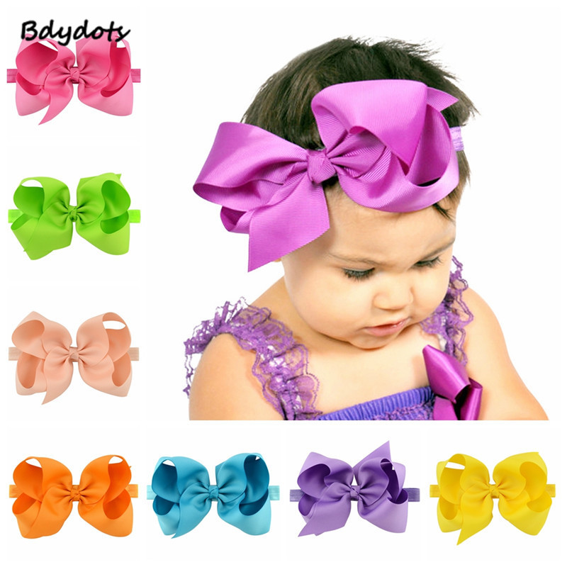 Lot 20pcs 3.5 Inch Baby Hair Bows For Girls Kids Hair Bands Alligator Hair Clip