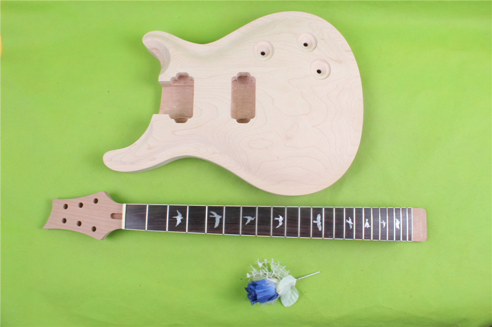S-00166 #       Electric guitar neck  and  body    fine quality  rosewood fingerboard  mahogany  made and  maple top 22  fret s 00166 25 5 big head electric guitar neck fine quality rosewood fingerboard 22 fret