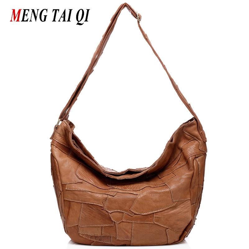 Patchwork genuine leather bag designer handbags high quality luxury Crossbody Shoulder Bags for women messenger bags casual 4