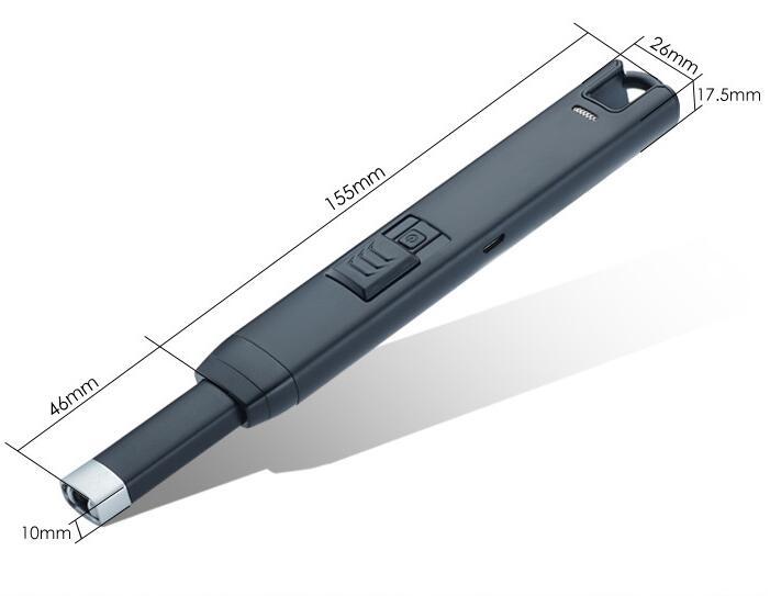 30 unids/lote USB a prueba de viento Encendedor eléctrico como accessary fumar B