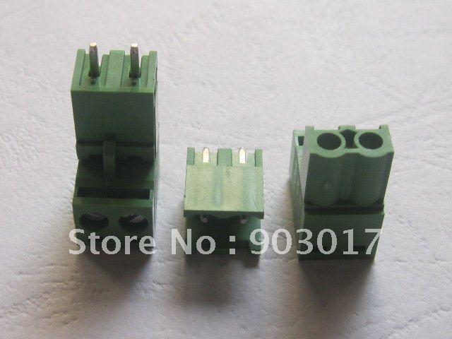 5,08 мм винтовой клеммный блок соединитель зеленый цвет Т Тип с pin 2 pin/шаг пути 15 шт