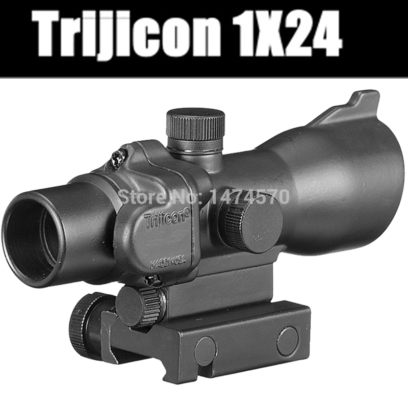 Trijicon Hunting Riflescope 1x24 Scope Red dot 20/11mm Weaver Picatinny Rail Mounts for Tactical Airsoft hunting tactical mini red dot laser sight scope weaver with picatinny rail mount for pistol rifle shot gun airsoft riflescope