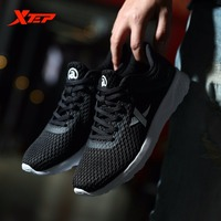 XTEP Original Brand Men S Light Weight Running Shoes Black Sports Trainers Shoes Summer Style Breathable