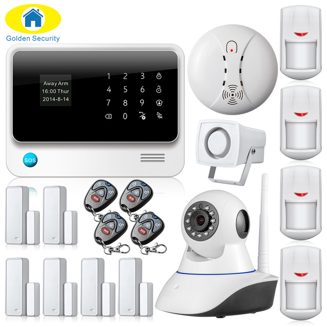G90B-PLUS GSM Alarm System  WiFi Security Alarm System GPRS Home Alarm System Remote Control Door/Window Sensors