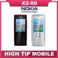 Original reformado desbloqueado nokia x2-00 teléfono móvil 5.0mp cámara bluetooth fm mp3 mp4 libera el envío garantía de 1 año