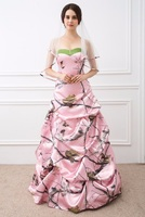2019 Sweetheart A Line Pink Camo Wedding Dresses Satin Real Tree Country With Veil Bridal Gowns Formal Draped Long Plus Size