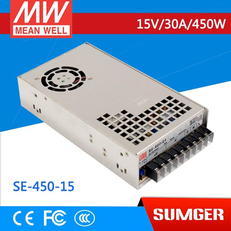 [MEAN WELL] original SE-450-15 15V 30A meanwell SE-450 15V 450W Single Output Power Supply mean well se 450 5 5v 75a meanwell se 450 5v 375w single output power supply [hot8]
